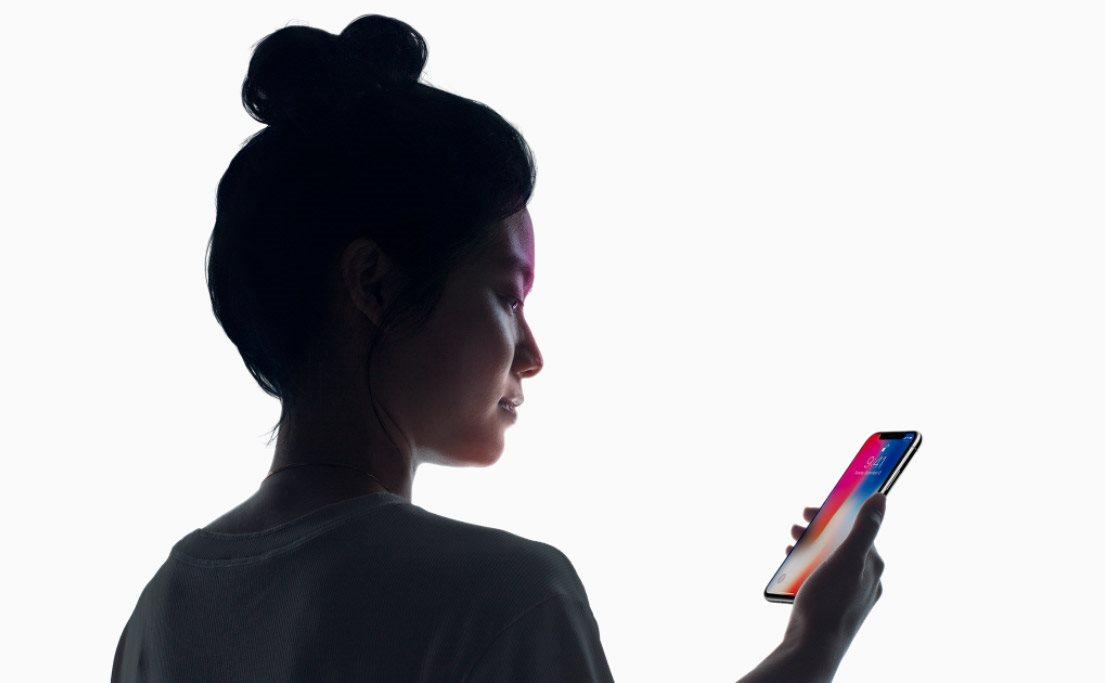 Mobilní telefon iPhone X, odemykání