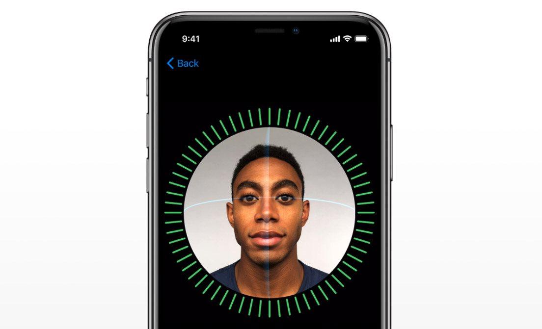 Mobilní telefon iPhone X, Face ID
