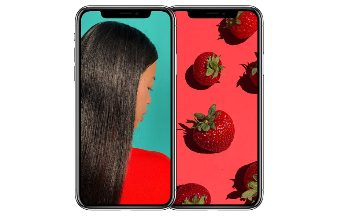 Mobilní telefon iPhone X, OLED
