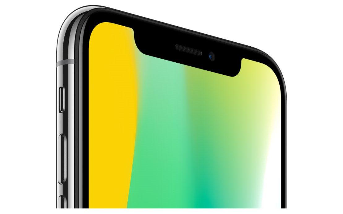 Mobilní telefon iPhone X, TrueDepth