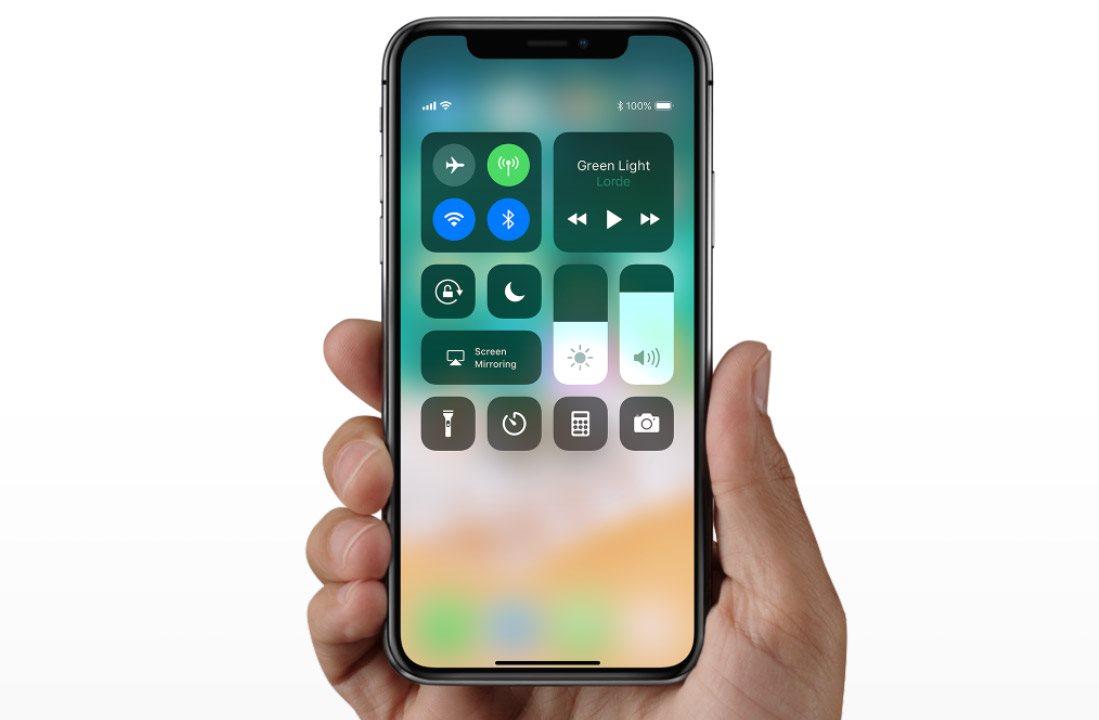 Mobilní telefon iPhone X, gesta