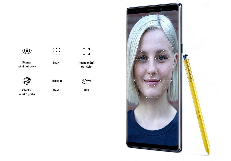Samsung Galaxy Note9, bezpečnost
