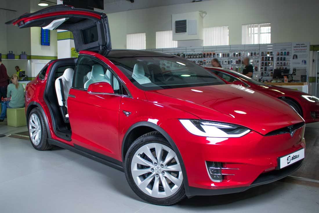 tesla model x 100d  u010derven u00e1 elektromobil alza cz