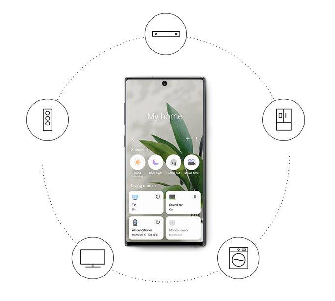 Mobilní aplikace SmartThings