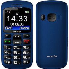 Aligator A670 Senior Blue + Stolní nabíječka - Mobilní telefon