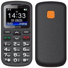 Aligator A431 Senior černá/šedá + stolní nabíječka - Mobilní telefon