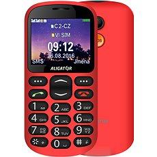 Aligator A880 GPS Senior červený + stolní nabíječka  - Mobilní telefon