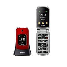Aligator V650 červeno-stříbrný - Mobilní telefon