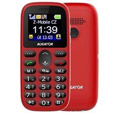 Aligator A510 Senior červený + stolní nabíječka - Mobilní telefon