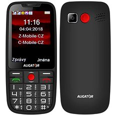 ALIGATOR A890 Senior černá - Mobilní telefon