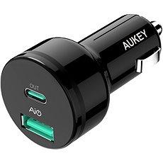 Aukey Adaptive USB-C Charge 2.0 2- Port Car Charger - Nabíječka do auta