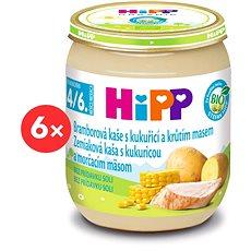 HiPP BIO Bramborové pyré s kukuřicí a krůtím masem - 6× 125 g - Dětský příkrm