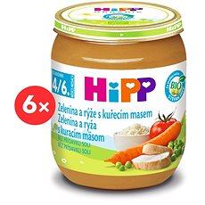 HiPP BIO Zelenina a rýže s kuřecím masem - 6× 125 g - Dětský příkrm