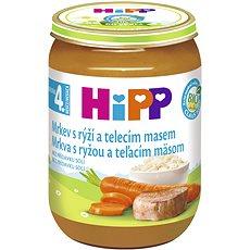 HiPP BIO Mrkev s rýží a telecím masem - 6× 190 g - Dětský příkrm