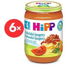HiPP BIO Špagety v boloňské omáčce - 6× 190 g - Dětský příkrm