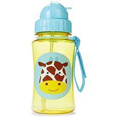 Skip hop Zoo Lahvička s brčkem - Žirafa - Láhev na pití pro děti