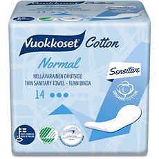 VUOKKOSET Cotton Normal Thin 14 ks - Eko menstruační vložky