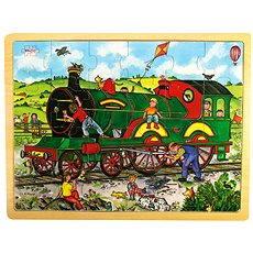 Dřevěné puzzle - Vlak - Puzzle