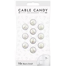 Cable Candy Small Beans 10 ks bílý - Organizace kabelů