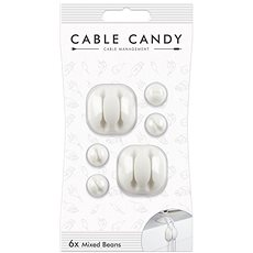 Cable Candy Mixed Beans 6 ks bílý - Organizace kabelů