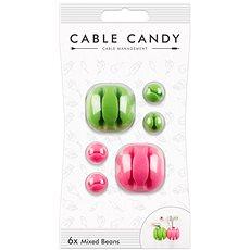 Cable Candy Mixed Beans 6 ks zelený a růžový - Organizace kabelů