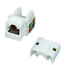 Datacom  RJ45 UTP CAT6 (DUAL) MINI bílý - Keystone
