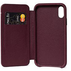 Decoded Leather Slim Wallet Purple iPhone XR - Kryt na mobil