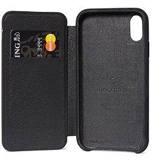 Decoded Leather Slim Wallet Black iPhone XR - Kryt na mobil