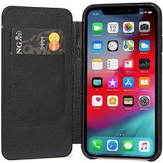 Decoded Leather Slim Wallet Black iPhone XS/X - Kryt na mobil