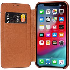 Decoded Leather Slim Wallet Brown iPhone XS/X - Kryt na mobil