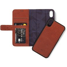 Decoded Leather 2in1 Wallet Brown iPhone XS Max - Pouzdro na mobilní telefon