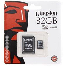 Kingston MicroSDHC 32GB Class 4 + SD adaptér - Paměťová karta