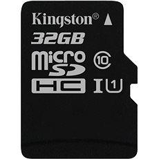 Kingston MicroSDHC 32GB UHS-I U1 - Paměťová karta