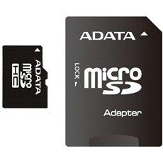 ADATA MicroSDHC 16GB Class 4 + SD adaptér - Paměťová karta