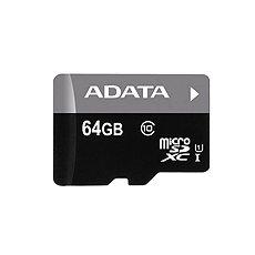 ADATA Premier MicroSDXC 64GB UHS-I + SD adaptér - Paměťová karta