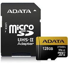ADATA Premier ONE MicroSDXC 128GB UHS-II U3 Class 10 + SD adaptér - Paměťová karta