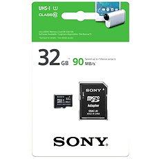 Sony MicroSDHC 32GB Class 10 UHS-I + SD adaptér - Paměťová karta