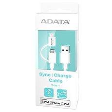 ADATA Lightning/Micro USB MFi 1m bílý - Datový kabel