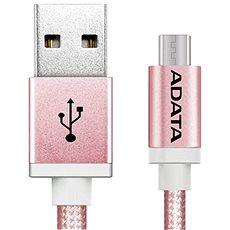 ADATA microUSB 1m růžový - Datový kabel