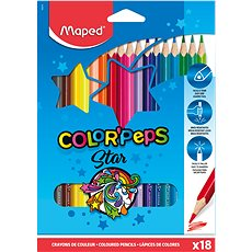 Maped Color Peps 18 barev trojhranné - Pastelky