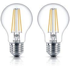 Philips LED Classic Filament Retro 6-60W, E27, 2700K, čirá, set 2ks - LED žárovka