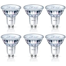 Philips LED Classic spot 4.6-50W, GU10, 2700K, set 6ks - LED žárovka