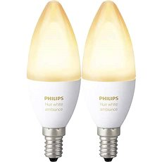 Philips Hue White Ambiance 6W E14 set 2ks - LED žárovka