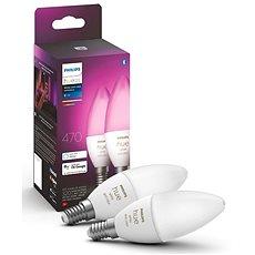 Philips Hue White and Color Ambiance 6W E14 set 2ks - LED žárovka