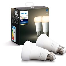 Philips Hue White 9W E27 set 2ks - LED žárovka