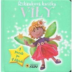 Říkanková knížka Víly: 4 puzzle po 4 dílcích - Kniha