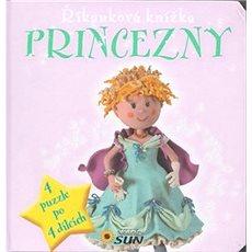 Říkanková knížka Princezny: 4 puzzle po 4 dílcích - Kniha