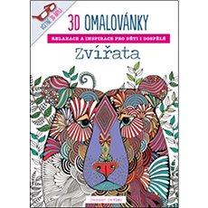 3D omalovánky Zvířata - Kniha