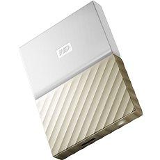 "WD 2.5"" My Passport Ultra Metal 2TB bílo/zlatý - Externí disk"