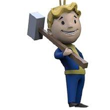 Fallout Vault Boy 3D - Melee - klíčenka - Klíčenka
